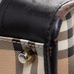 Burberry Brown Haymarket Check PVC Minford Satchel