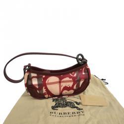 Burberry Nova Check Heart Print Coated Canvas Shoulder Bag