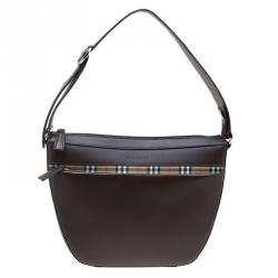 Burberry Brown Leather Saddle Shoulder Bag