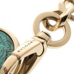 Bvlgari Multicolor Glass Embellished Chain Link Belt