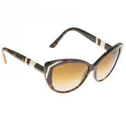 bd04bc73a93f Bvlgari Tortoise Frame BV8151 Crystal Embellished Cat Eye Sunglasses