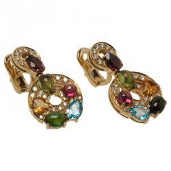Bvlgari Astrale Colored Gemstones Yellow Gold Earrings