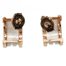 Bvlgari B.Zero1 White Ceramic Rose Gold Earrings
