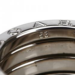 Bvlgari B.zero1 3-Band White Gold Ring Size 53