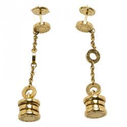 Bvlgari B.Zero1 Yellow Gold Dangle Earrings