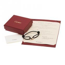 Cartier Love 18K Yellow Gold Brown Ceramic Diamond Bracelet