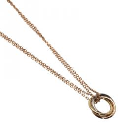 Cartier Sweet Trinity 18kt 3-Tone Gold Pendant Chain Necklace