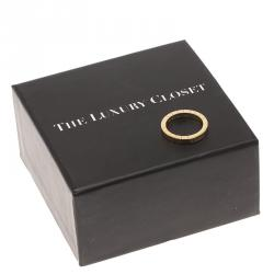 Cartier Lanières Yellow Gold Band Ring Size 53