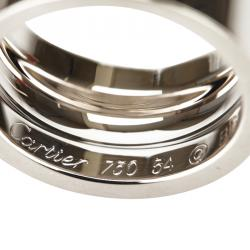 Cartier Love White Gold Wide Ring Size 54