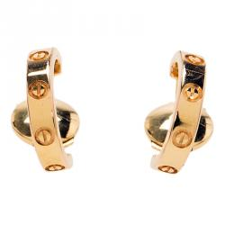 Cartier Love Rose Gold Small Open Hoop Earrings
