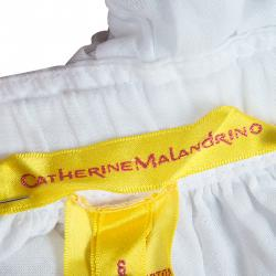 Catherine Malandrino White Ruffle Detail Cotton Blouse M