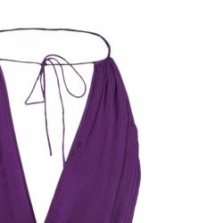 Catherine Malandrino Purple Chiffon Crochet Dress S