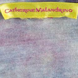 Catherine Malandrino Multicolor Printed Ruched Sleeveless Janelle Dress S