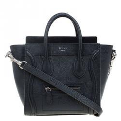 Celine Black Leather Nano Luggage Tote