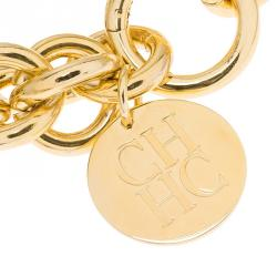 Carolina Herrera CH Chain Gold Tone Bracelet