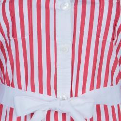 CH Carolina Herrera Red and White Long Sleeve Dress S