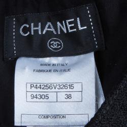 Chanel Black Tweed Trousers M