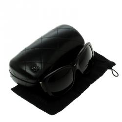 Chanel Brown Gradient Dark Tortoise Frame CC 5234-Q Square Sunglasses