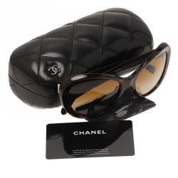 Chanel Tortoise Oversized Cat Eye Sunglasses