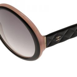 Chanel Black and Pink 5120 Round Sunglasses
