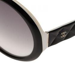 Chanel Black and White 5120 Round Sunglasses