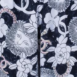 Chanel Silk Printed Palazzo Pants M