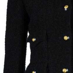 Chanel Black Wool Four Pocket Jacket S