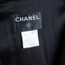 Chanel Black Cashmere Long Coat L