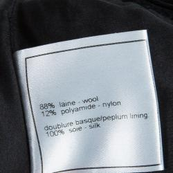 Chanel Black Pleated Skirt M