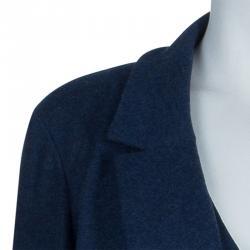 Chanel Navy Wool Coat Dress M