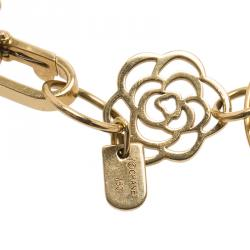 Chanel Camelia Yellow Gold Bracelet
