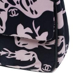 Chanel Black and Pink Fabric Mirror Charm Classic 2.55 Flap Bag