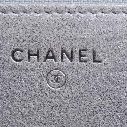 Chanel Silver Iridescent Lizard Skin WOC Bag