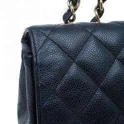 Chanel Black Caviar Leather Jumbo Classic Flap Bag