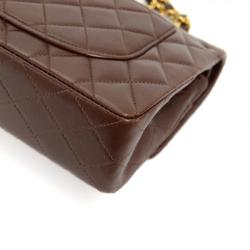 Chanel Chocolate Brown Quilted Lambskin 2.55 Double Flap Shoulder Bag