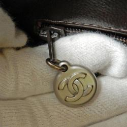 Chanel Dark Brown Quilted Caviar Medallion Tote