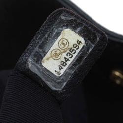 Chanel Black Caviar Leather Cerf Tote