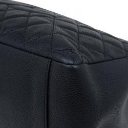 Chanel Black Quilted Caviar Grand Shopping Tote