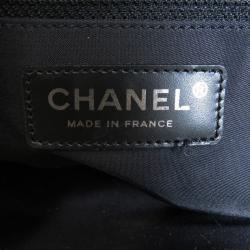 Chanel Black Nylon Travel Line Tote