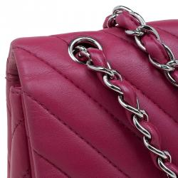 Chanel Rouge Chevron Quilted Lambskin Maxi Classic Flap Bag