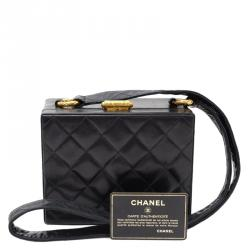 Chanel Black Quilted Lambskin Vintage Box Bag