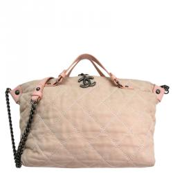 Chanel Pink Calfskin Quilted Bag