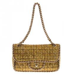 79c02386a7cdaf Buy Chanel Black Glazed Wicker Mini Vintage Flap Bag 136384 at best ...