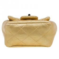 Chanel Gold Quilted Leather Reissue 2.55 Limited Edition Ankle Bag