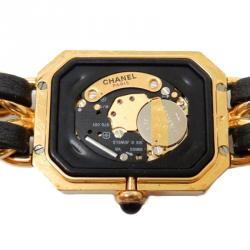 Chanel Black Gold-Plated Stainless Steel Première Women's Wristwatch 20MM