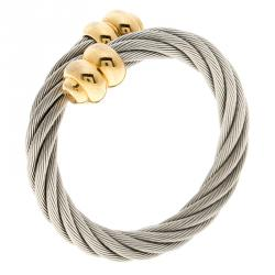 Charriol Celtic Twisted Cable Silver and Gold Tone Ring
