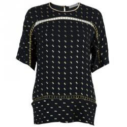 Chloe Black Gold Detail Top M