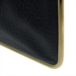 Chloe Black Pebbled Leather Sally Envelope Clutch