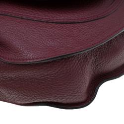 Chloe Burgundy Leather Medium Marcie Hobo
