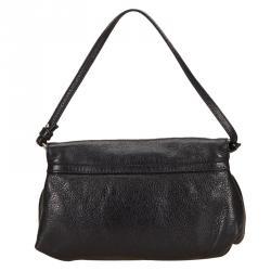 Chloe Black Leather Lily Shoulder Bag